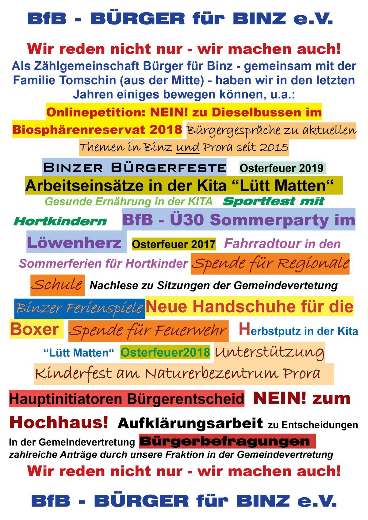 4.Binzer Bürgerfest 11.Mai 2019